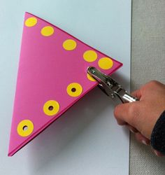 "Therapeutic Benefit: This is a good tool to strengthen muscles of the hand and also a great activity when teaching cutting skills because the hole puncher mimics the open/close motion of scissors. Teach cutting complex figures by hole punching along the shape and cut through the holes. Punch out holes from different colored construction paper and use the ""confetti"" to create a picture or write your name. -Repinned by Totetude.com"