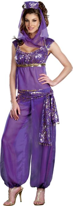 Genie princess arabian nights belly dance fancy dress costume 3 aladdin harems adult ally kazam costume party city solutioingenieria Images