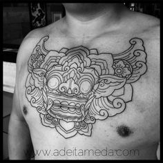 «Starting this Barong chest piece, so far so good. Done @25tolifetattoos…