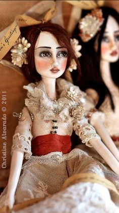 Art Doll Ornaments~Image © Christine Alvarado, 2011