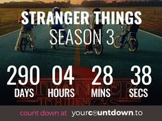 Why do we have to wait so long for stranger things season 3 😩 at least this countdown will help my suffering. Stranger Things Quote, Stranger Things Season 3, Stranger Things Aesthetic, Should I Stay, Film Serie, Best Shows Ever, Haha, Tv Shows, Fandoms