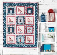 Set sail for a fast, fun quilt project! Featuring an included pattern, templates and fabric from Andover's Sea View collection, this Sailboat Quilt Kit has everything you need for a gorgeous, nautical-themed top. Plus, you can have matching backing fabric included simply by choosing the kit + backing option on this page.