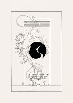 "stagandserpent: """"The Smoking Mirror"" (Design for etching/aquatint, 2015) """