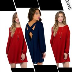 Stunning tunic/dress LAST ONE Red wine color tunic/dress armpit to armpit is 23 inches and 35 inches in length. Semi sheer Tops Tunics