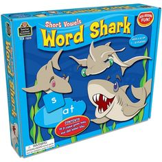Teacher Created Resources Word Shark Short Vowels Game for sale online Short Vowel Games, Short Vowels, Baby Learning Toys, Kids Learning, School Supply Store, Short Vowel Sounds, Teacher Created Resources, Developmental Toys