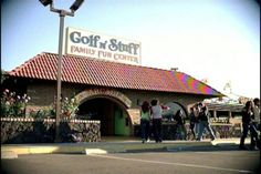 Golf n Stuff in CA...been there. The arcade where Daniel and Ali's date was filmed in the Karate Kid.