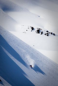 Backcountry skiing: the best kind of turns are the ones you earn.