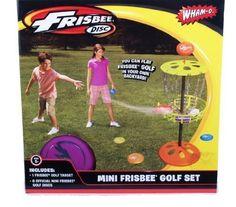 Wham-o Mini Frisbee Golf Set (Colors Vary) Children, Kids... https://www.amazon.com/dp/B00G4BML7Y/ref=cm_sw_r_pi_dp_x_FRiHzb6KMAWA6