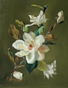 Southern Magnolia Flower Painting | Painted Magnolias