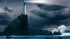 lighthouses | Lighthouse At Night Wallpaper Sky Wallpapers Free Download Design ...