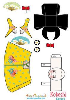 Kokeshi Kasumi papercraft
