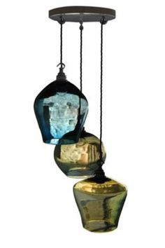 Love these beautiful blown glass light fixtures