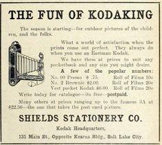 The Fun of Kodaking - ad in Utah Farmer June 14 1916.08