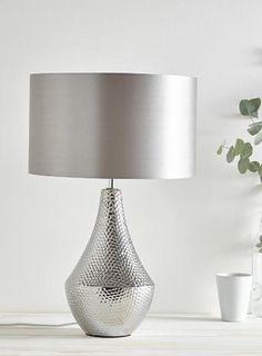 Chrome Edina ceramic table lamp