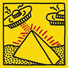 Giclee on premium paper, 2014. Paper Size: 24'' x 24.'' Unsigned and unnumbered. Published by BMG, Inc. Excellent Condition; never framed or matted. KEITH HARING (1958-1989) A leading Neo-Pop artist,