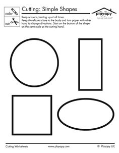 This simple worksheet is great for practicing coloring and cutting skills for pre-schoolers.