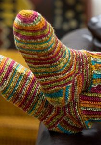 Colorful Crochet Socks free pattern