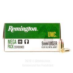 Remington 9mm Ammo - 1000 Rounds of 115 Grain MC Ammunition #Remington #RemingtonAmmo #9mmAmmo #9mm