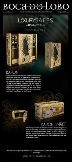 baron, luxury safe, gold, safe box, limited edition, private collection #highendfurniture #homefurniture #luxuryfurniture #contemporaryfurniture #designerfurniture