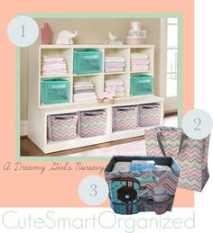Dreamy Girls Nursery using thirty-one products and pottery barn furniture.  Www.mythirtyone.com/sfsanders