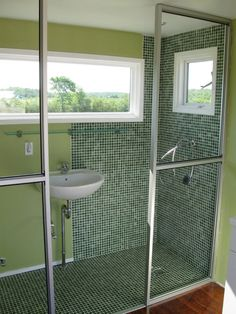shower in shipping container home