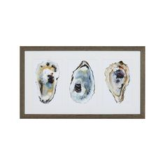Oyster Shimmer Print | Crate and Barrel