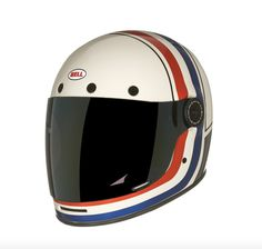 The new Bell Bullitt RSD Viva Helmet is a limited edition version of Bell's new retro full face lid with custom graphics by the team at Roland Sands Dirt Bike Helmets, Motorcycle Helmet Design, Motorcycle Equipment, Racing Helmets, Motorcycle Gear, Biker Helmets, Motorbike Clothing, Retro Helmet, Best Motorbike