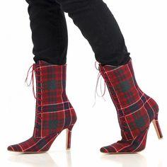 MacRae Red Tartan Boots