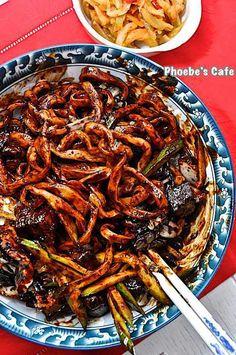 韓国チャジャン麺レシピ,麺料理,韓国料理,