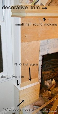 How to build a Fireplace Surround | Beneath My Heart