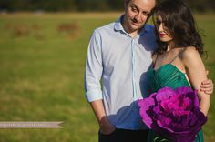 engagement photo session photography giant purple paper flower richmond park