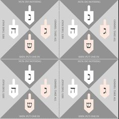 Printable Hanukkah dreidel rules and illustration. This Hanukkah dreidel guide is available for immediate download and comes in a high quality (300 dpi) PDF file for ease of printing. When you download the file you will receive one PDF that contains your definitive dreidel guide. Jewish Holiday Calendar, Jewish Crafts, Game Guide, Yearly Calendar, Home Printers, Letterpress, Hanukkah, Card Stock, Printing
