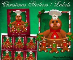 "Gingerbread Man ""Little Gingerbread Men"" Stickers - Digital Download by DinkyPrints"