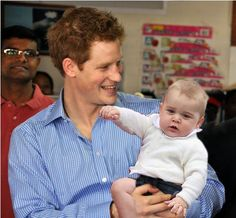 prince harry with prince george - Google Search                                                                                                                                                                                 More