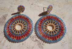 Tutorial earrings ethnic Technical circular by PatriziaBijoux