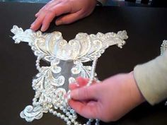 BRIDAL LACE and appliques for SALE, amazing fabric, heavily beaded!! - YouTube