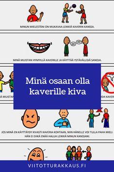 Kuinka kaverin kanssa ollaan niin että molemmilla on mukavaa? Kindergarten Crafts, Classroom Management, Language, Mindfulness, Children, Young Children, Boys, Child, Kids