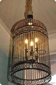 diy bird cage lampshade - Google Search
