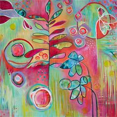 Abstract Contemporary Nature Painting titled by LauraGaffke, $25.00