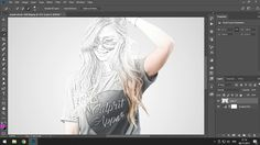 Tutorial Photoshop  sketch effect [Photoshop CC 2018]