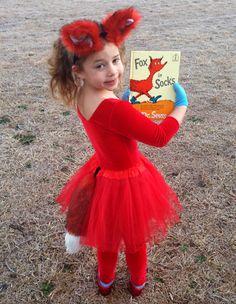 Dr. Seuss Day Fox in Socks Costume