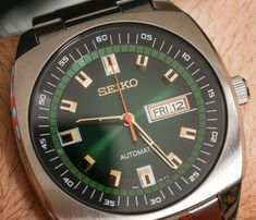 "Seiko Recraft Automatic Watch Watch Review - see the hands-on pictures, read the full review: http://www.ablogtowatch.com/seiko-recraft-automatic-watch-watch-review/ ""When Seiko introduced its retro-themed Recraft series last fall, the enthusiastic response to it, I believe, came as a bit of a surprise. Then again, outside of the Grand Seiko line, contemporary Seikos hadn't so much embraced the vintage aesthetic of the '60s and '70s that turned many of us into full-on Seiko…"