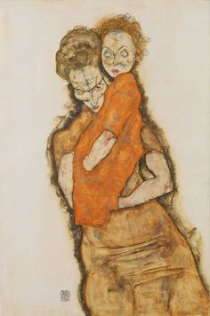 Mother and Child (1914) by Egon Schiele (dappledwithshadow)
