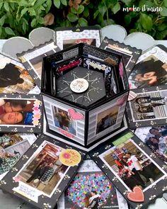 Birthday Gifts For Boyfriend Diy, Handmade Birthday Gifts, Cute Birthday Gift, Friend Birthday Gifts, Birthday Diy, Boyfriend Gifts, Exploding Gift Box, Picture Gifts, Diy Gift Box