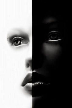 Black and White│Negro y Blanco - - Black N White, Black And White Pictures, White Art, Color Black, Foto Fashion, Shades Of Black, Light And Shadow, Yin Yang, Color Negra