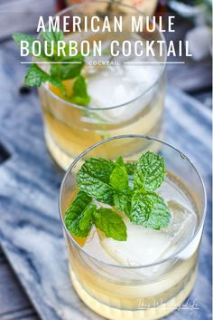 American Mule Bourbon Cocktails. Check out this amazing cocktail drink recipe which is great for a party, Christmas, or any time of the year. Everyone will love when you serve these delicious drinks.