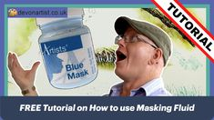FREE Tutorial on How to use Masking Fluid. This includes 10 fantastic tips, tricks and techniques which will hopefully teach you everything you need to know to start using masking fluid. I have quite a range of 'go-to' tools that I use to apply masking fluid, is there anything else you use? #PaulHopkinson #TheDevonArtist #maskingfluid #howtousemaskingfluid #freetutorial #watercolourtutorial #watercolortutorial #watercolortechniques #watercolortips #watercolorhelp Watercolor Tips, Watercolour Tutorials, Watercolor Techniques, Watercolor Paintings, Blue Mask, Learn To Paint, Being Used, Helpful Hints, How To Apply