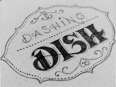 dashing dish typography