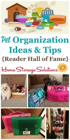 Pet organization ideas and tips to make sure all your pets supplies, toys, papers, and more are stored and organized {on Home Storage Solutions 101} #OrganizingTips #PetSupplies #OrganizedHome