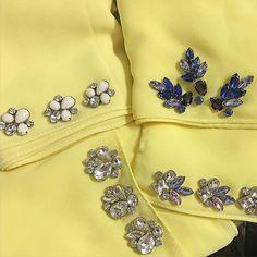 Yellow. . #sayajualservice #sayajahitmanik #craft #wedding #bajunikah #patch #patchinglace #bajutunang #wedding #weddingdress #jahitmanik #manik #chunkybeads #muslimah #ootdmalaysia #ootd #hijabster #muslimahfashion #bajuraya2016 #bajuraya #hijabster #hijabis Pearl Embroidery, Bead Embroidery Patterns, Embroidery On Clothes, Embroidery Jewelry, Embroidery Dress, Beading Patterns, Hand Embroidery, Embroidery Designs, Stylish Dress Designs